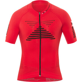 X-Bionic Effektor Power Biking Jersey SS Full-Zip Men, flash red/black